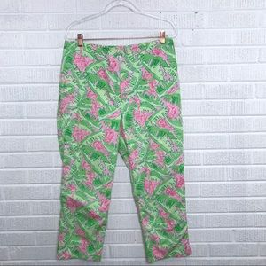 Lilly Pulitzer Musical Monkey Print Pants Pink 12